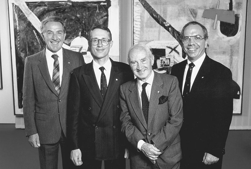 1989. Carlo, Marco, Franco and Paul at the time of the elders making way to the younger generation.