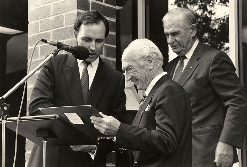 Franco with Prime Minister Paul Keating.