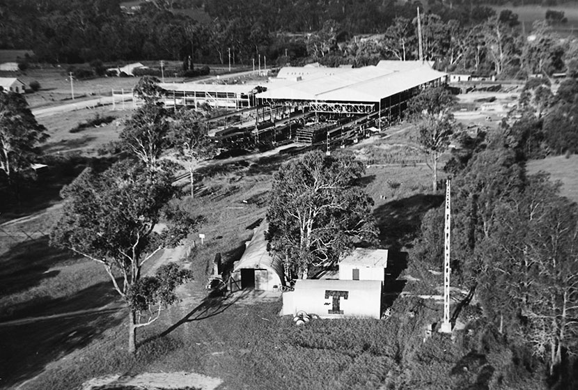 Late 1950s. Aerial view of the Seven Hills factory.