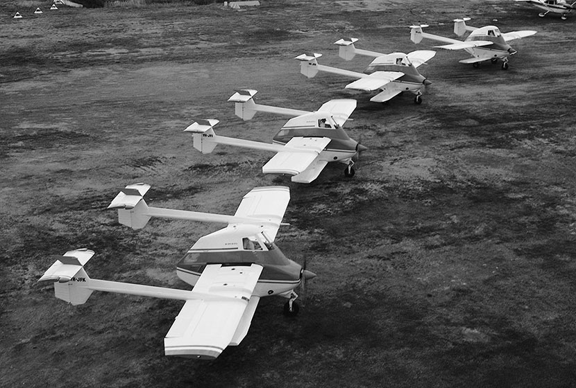 1985. Skyfarmers ready for delivery to the People's Republic of China.