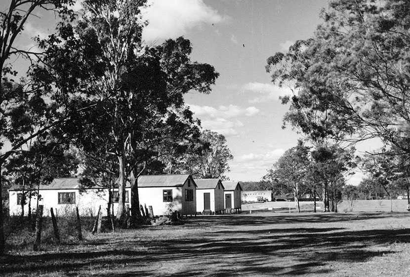 1958. Living quarters at Seven Hills.