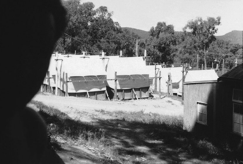 1951. The tents of the camp at Menai (NSW), where EPT workers were lodged while erecting towers.