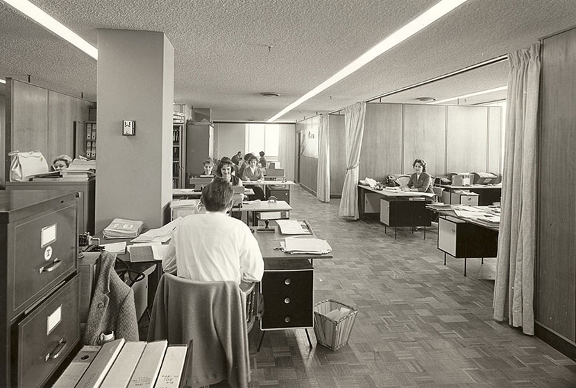 1960s. Office staff at Transfield House, North Sydney.