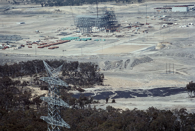 Mt Piper power station, NSW, under construction.