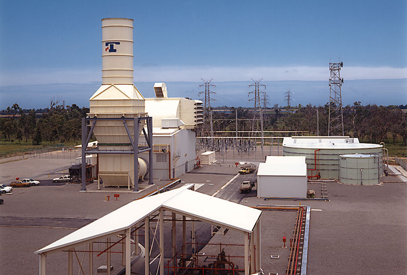 Panoramic view of Townsville power station, Queensland.