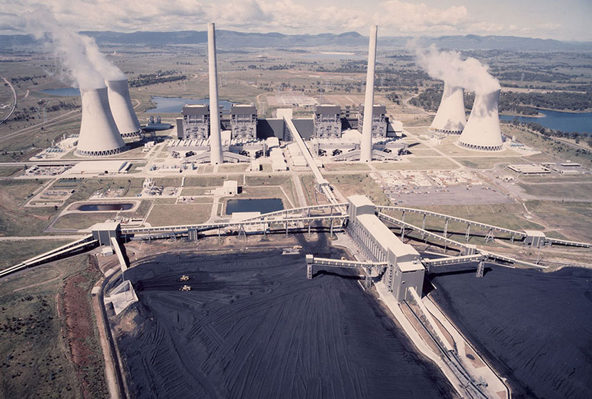 Bayswater power station, NSW. Aerial view.