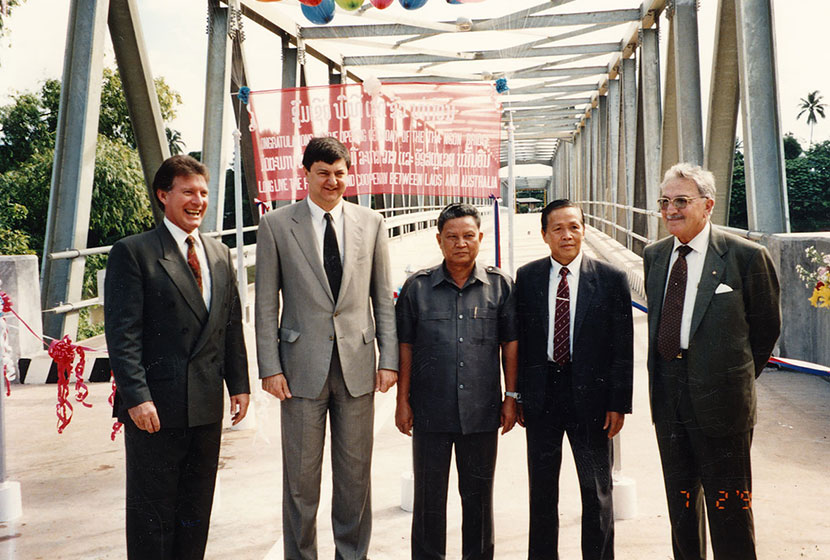 18 June 1994. The official opening of the Tha Ngon Bridge.