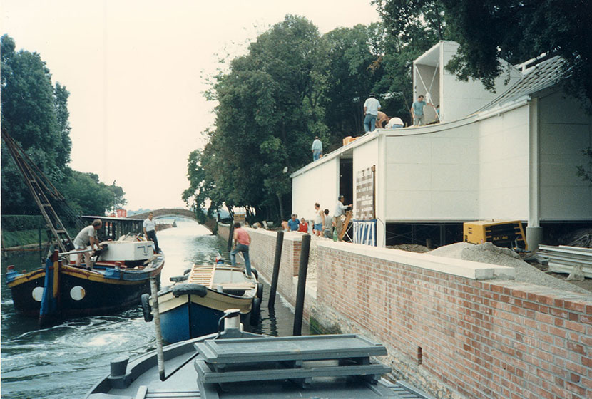 1988. Opening day of the Australian Pavilion at the Biennale of Venice.