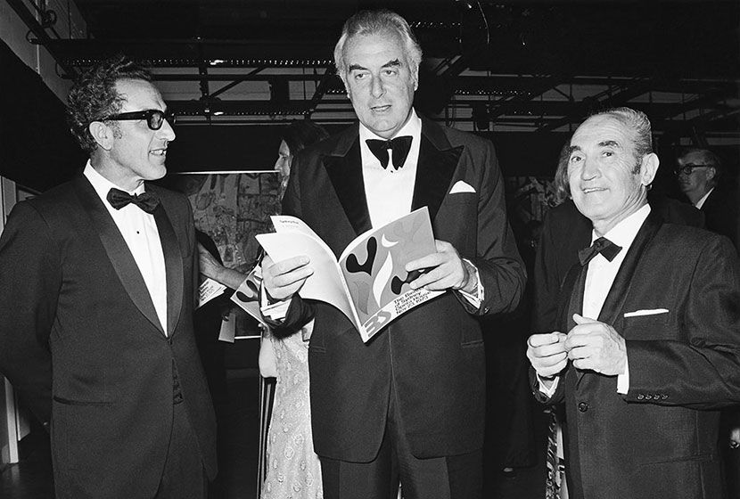 Prime Minister Gough Whitlam, with Salteri and Belgiorno-Nettis after he opened the first Biennale.
