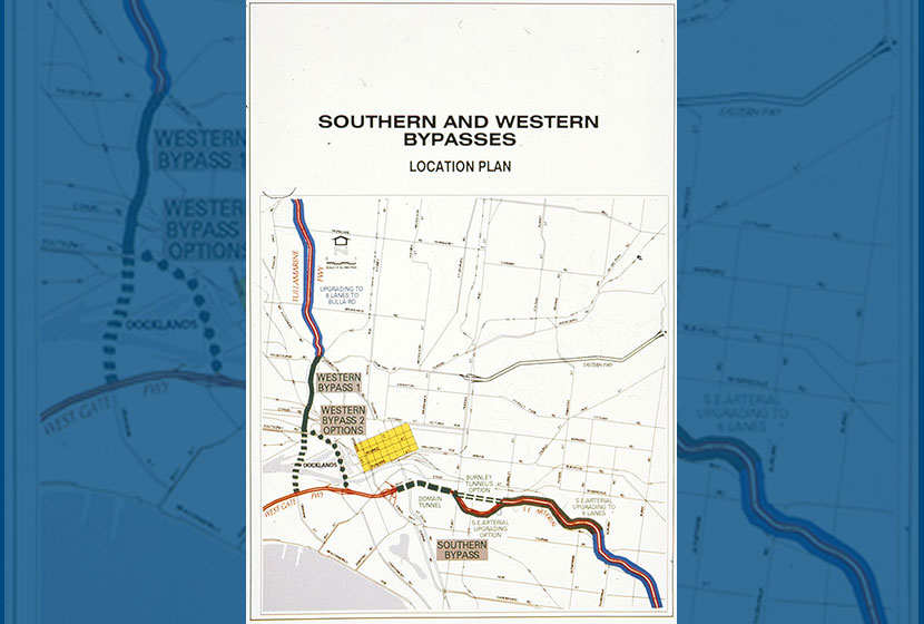 Melbourne City Link. Map of the Southern and Western Bypasses.